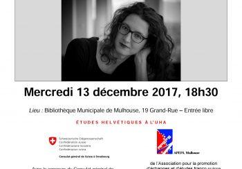 Cycle franco-suisse avecAude Seigne,Une toile large comme le monde