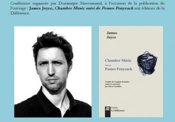 Pierre Troullier  « James Joyce poète (1907-1927) et sa traduction : un lyrisme européen »