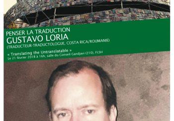 "Gustavo Loria, ""Translating the Untranslatable"""