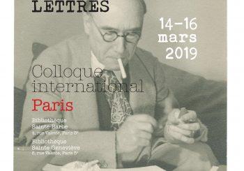 André Gide dans ses lettres (14-16 mars 2019, Paris)